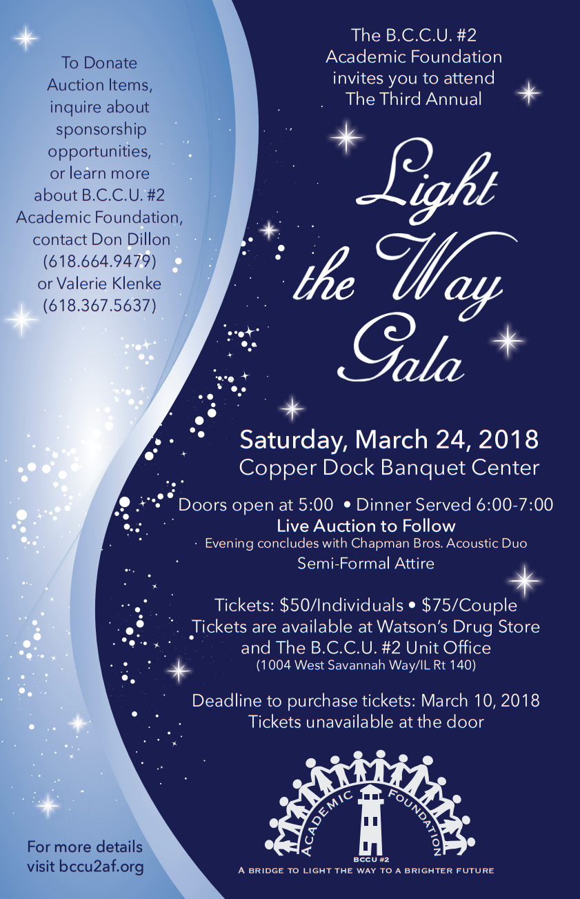 2018 Light The Way Gala Poster