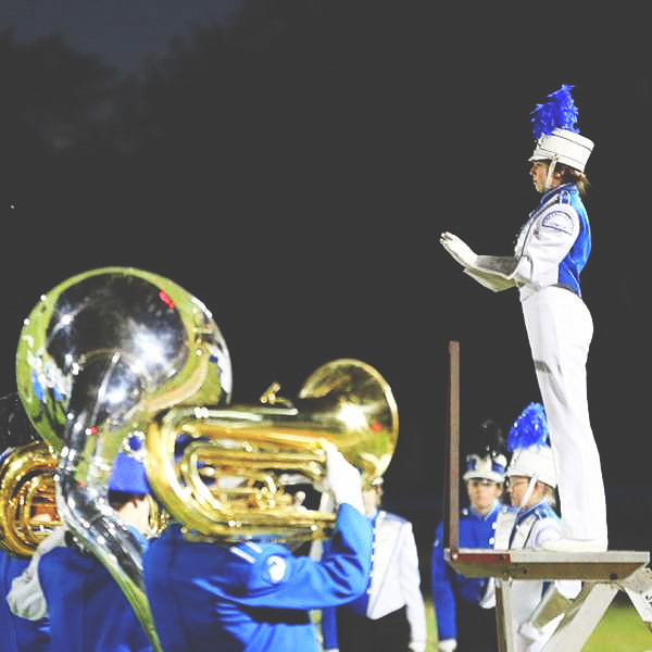 High School Marching Band Drum Major