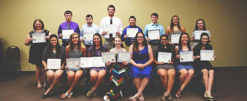 Student Scholarships 2015 photo courtesy The Greenville Advocate