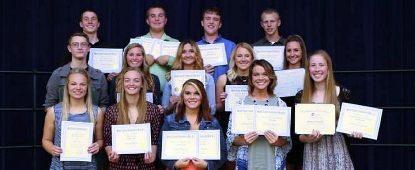 Student Scholarships 2016 photo courtesy The Greenville Advocate